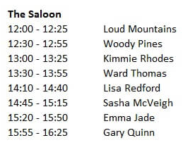 saloon line up